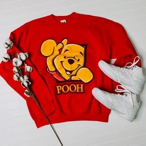 The Disney Catalog Red Winnie the Pooh Sweater